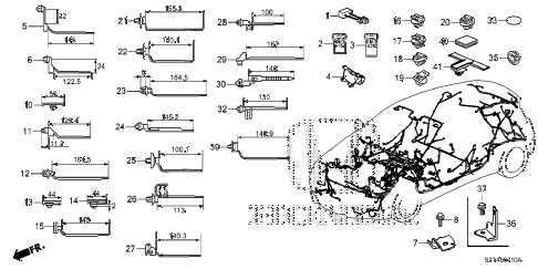 2011 cr-z BASE 3 DOOR CVT HARNESS BAND - BRACKET diagram