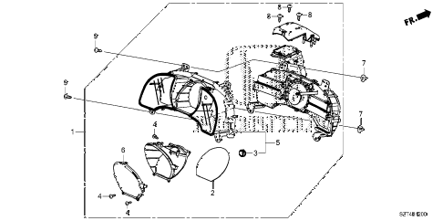 2012 cr-z EX 3 DOOR CVT METER diagram