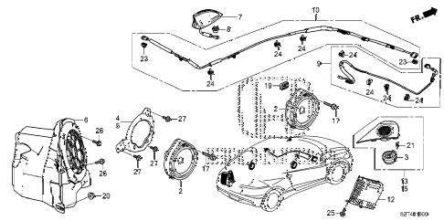 2011 cr-z EX(NV) 3 DOOR CVT ANTENNA - SPEAKER diagram
