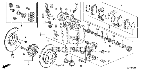 2011 cr-z BASE 3 DOOR CVT REAR BRAKE diagram