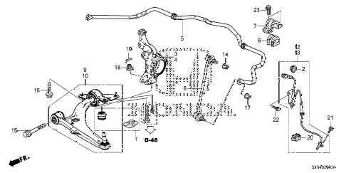 2011 cr-z BASE 3 DOOR CVT FRONT LOWER ARM diagram
