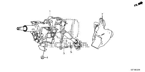 2011 cr-z EX(NV) 3 DOOR CVT STEERING COLUMN diagram