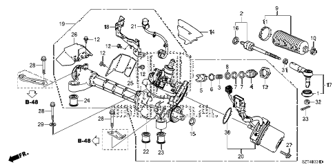 2012 cr-z EX 3 DOOR CVT P.S. GEAR BOX (EPS) diagram