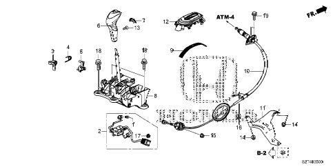 2012 cr-z EX(NV) 3 DOOR CVT SELECT LEVER diagram