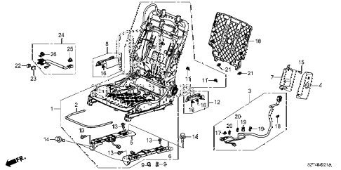 2012 cr-z EX(NV) 3 DOOR CVT FR. SEAT COMPONENTS (R.) (MANUAL SEAT) diagram