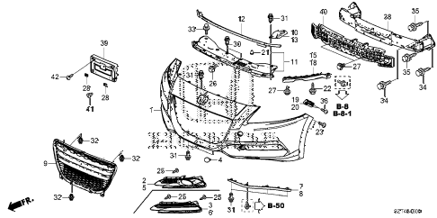 2012 cr-z EX(NV) 3 DOOR CVT FRONT BUMPER diagram