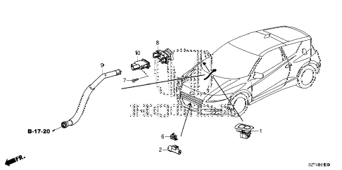 2012 cr-z EX 3 DOOR CVT A/C SENSOR diagram
