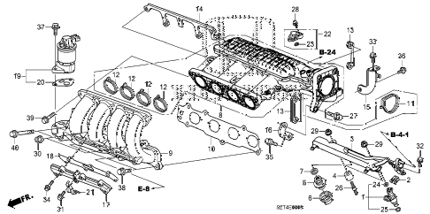 2011 cr-z EX(NV) 3 DOOR CVT INTAKE MANIFOLD diagram