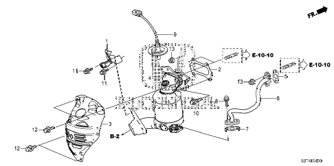 2012 cr-z EX 3 DOOR CVT CONVERTER diagram