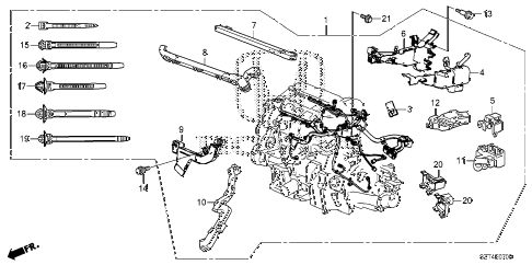 2011 cr-z EX(NV) 3 DOOR CVT ENGINE WIRE HARNESS diagram