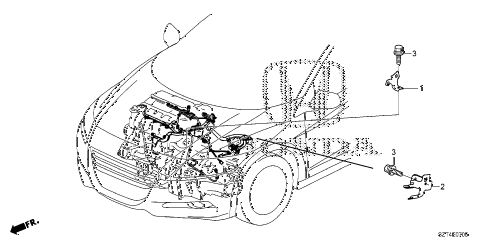 2011 cr-z EX(NV) 3 DOOR CVT ENGINE WIRE HARNESS STAY diagram