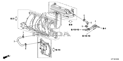 2012 cr-z EX 3 DOOR CVT BREATHER TUBE diagram