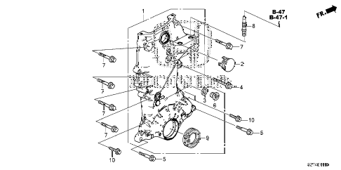 2011 cr-z BASE 3 DOOR CVT CHAIN CASE diagram