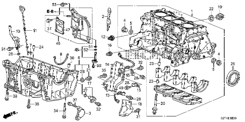 2011 cr-z BASE 3 DOOR CVT CYLINDER BLOCK - OIL PAN diagram