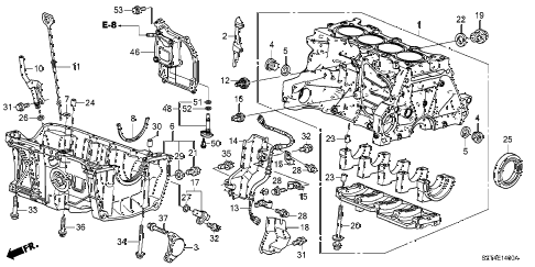 2011 cr-z EX(NV) 3 DOOR CVT CYLINDER BLOCK - OIL PAN diagram