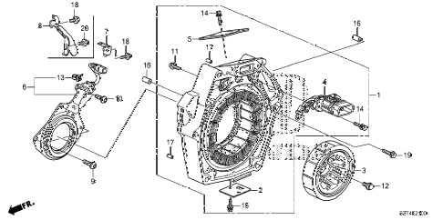 2012 cr-z EX 3 DOOR CVT IMA MOTOR diagram