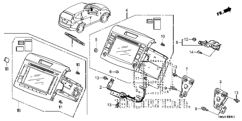 2013 cr-v EX-L(2WD LEA NAVI) 5 DOOR 5AT NAVIGATION SYSTEM (1) diagram