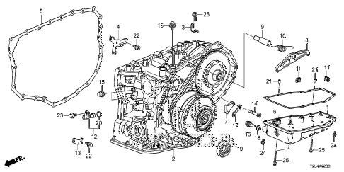 T3L4A0200 honda online store 2014 accord at transmission case (cvt) parts honda accord transmission diagram at gsmx.co