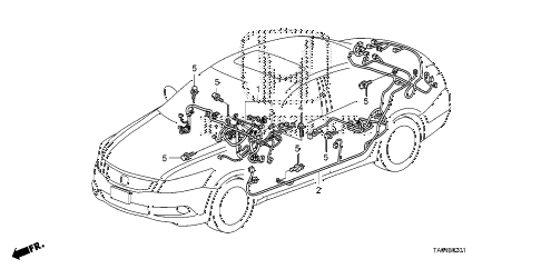 2010 accord EX-L(NAVI) 4 DOOR 5MT WIRE HARNESS (2) diagram
