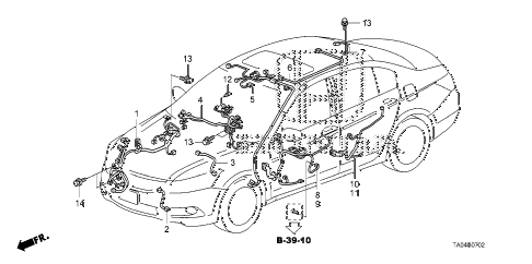 2010 accord LX+ 4 DOOR 5MT WIRE HARNESS (3) diagram