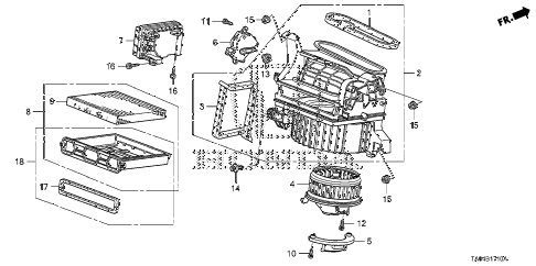2011 accord EX 4 DOOR 5MT HEATER BLOWER diagram
