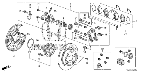 2008 accord EX 4 DOOR 5MT REAR BRAKE diagram