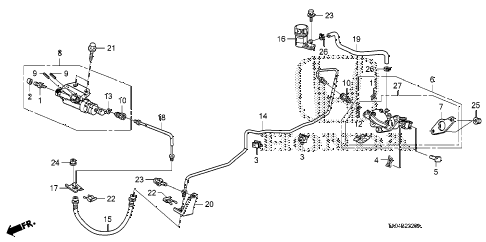 2010 accord EX 4 DOOR 5MT CLUTCH MASTER CYLINDER diagram