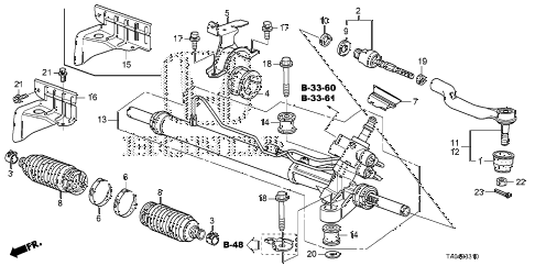 2010 accord EX 4 DOOR 5MT P.S. GEAR BOX diagram