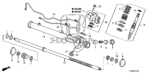 2009 accord EX-L(NAVI) 4 DOOR 5MT P.S. GEAR BOXCOMPONENTS diagram
