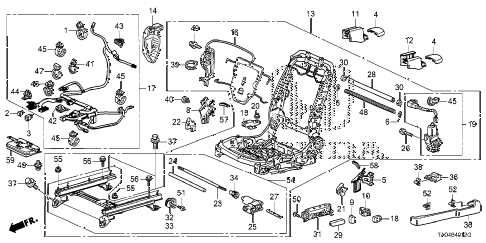 2010 accord EX 4 DOOR 5MT FRONT SEAT COMPONENTS (L.) (FULL POWER SEAT) (2) diagram