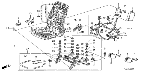2010 accord EX 4 DOOR 5MT FRONT SEAT COMPONENTS (R.) (MANUAL SEAT) diagram