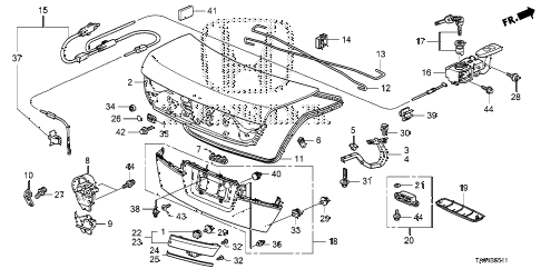 2011 accord LX+(PZEV) 4 DOOR 5AT TRUNK LID (2) diagram