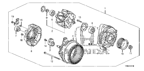 2010 accord EX 4 DOOR 5MT ALTERNATOR (DENSO) (L4) diagram
