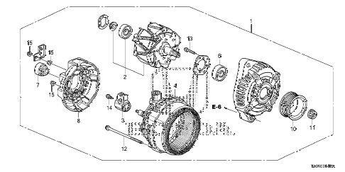 2008 accord EX-L 4 DOOR 5MT ALTERNATOR (DENSO) (L4) diagram