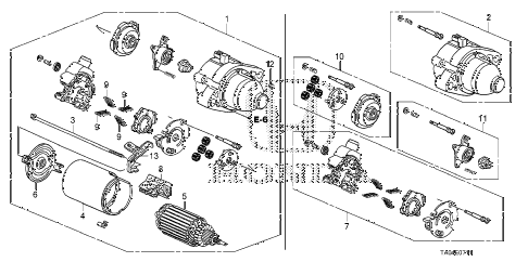 2009 accord EX 4 DOOR 5MT STARTER MOTOR (MITSUBA) (L4) diagram