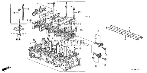 2010 accord EX 4 DOOR 5MT CYLINDER HEAD (L4) diagram