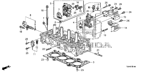 2009 accord EX 4 DOOR 5MT VTC OIL CONTROL VALVE (L4) diagram