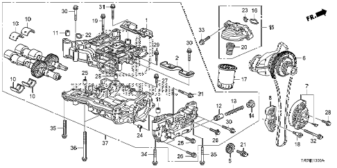 2009 accord EX-L(NAVI) 4 DOOR 5MT OIL PUMP (L4) diagram