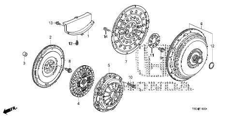 2010 accord LX+ 4 DOOR 5MT CLUTCH - TORQUE CONVERTER (L4) diagram