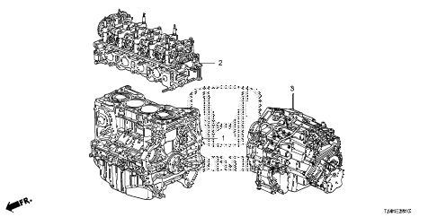2010 accord EX-L(NAVI) 4 DOOR 5MT ENGINE ASSY. - TRANSMISSION ASSY. (L4) diagram