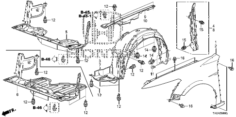 Ford Fusion Engine Parts Diagram