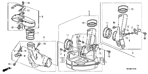 2008 accord EXL-V6(NAVI) 2 DOOR 6MT RESONATOR CHAMBER (V6) diagram