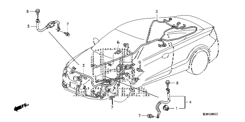 2009 accord EX 2 DOOR 5MT WIRE HARNESS (1) diagram