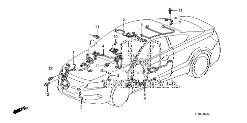 2011 accord EX 2 DOOR 5MT WIRE HARNESS (3) diagram