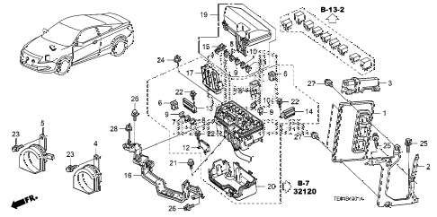 2010 accord EXL-V6 2 DOOR 6MT CONTROL UNIT (ENGINE ROOM) (1) (V6) diagram