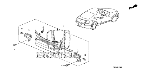 2008 accord EX-L(NAVI) 2 DOOR 5MT AUDIO UNIT (NAVIGATION) diagram