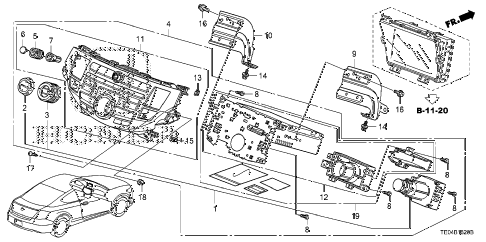 2008 accord EXL-V6(NAVI) 2 DOOR 6MT CENTER MODULE (NAVIGATION) diagram