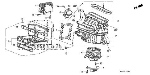 2009 accord EXL-V6 2 DOOR 6MT HEATER BLOWER diagram