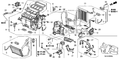 2010 accord EX-L(NAVI) 2 DOOR 5MT HEATER UNIT diagram