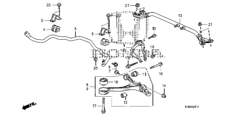 2011 accord EXL-V6 2 DOOR 6MT FRONT LOWER ARM diagram